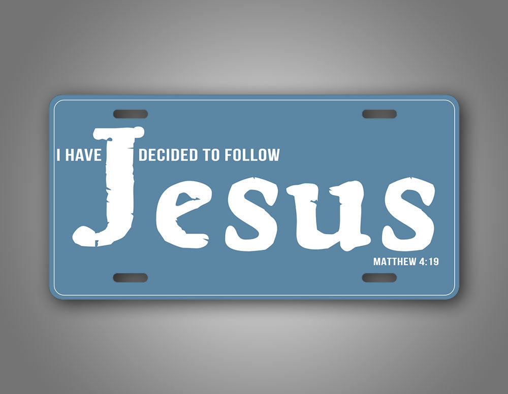 Following Jesus Christian License Plate