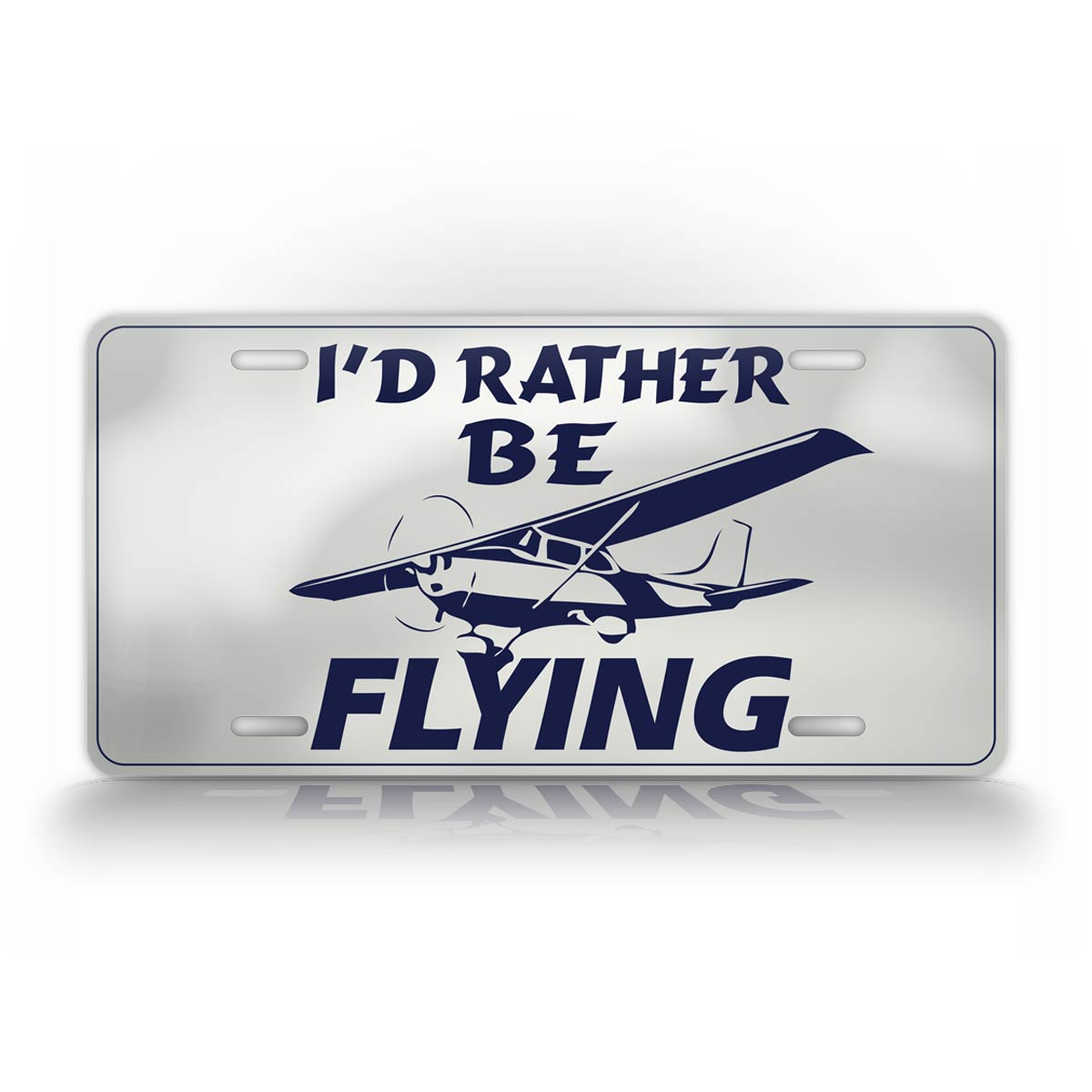 Id Rather Be Flying Pilots Auto Tag Pilot License Plate