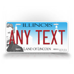 Illinois State land Of Lincoln Custom License Plate