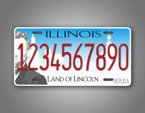 Any Text Illinois Personalized Car Auto Tag