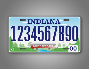 Personalized Indiana State Custom License Plate