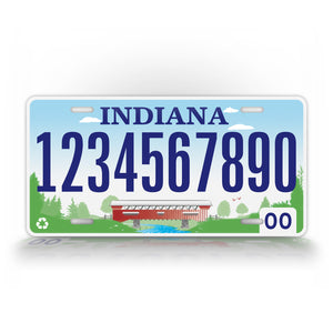 Personalized Any Text Indiana State Auto Tag