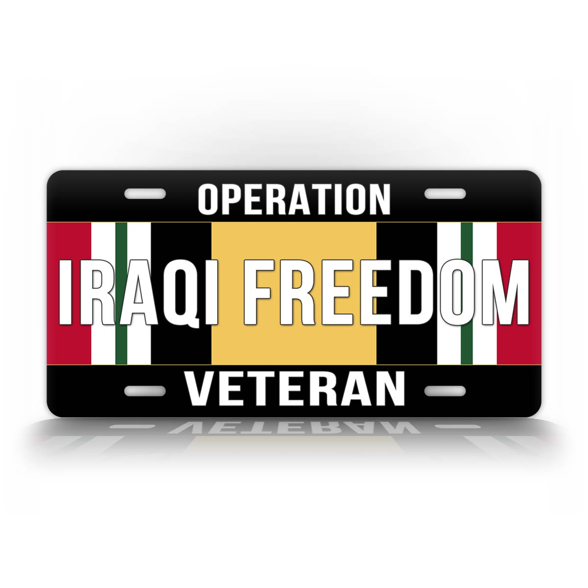 Operation Iraqi Freedom Ribbon Veteran Auto Tag