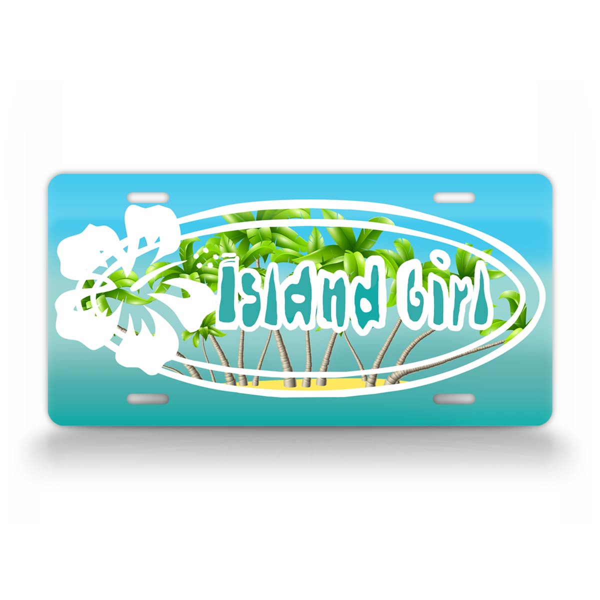 Island Girl Tropical Style Island Beach License Plate