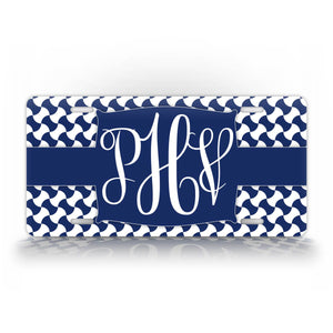 Personalized Monogrammed Blue Japanese Style License Plate