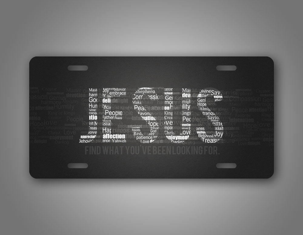 Jesus's Name Christian License Plate