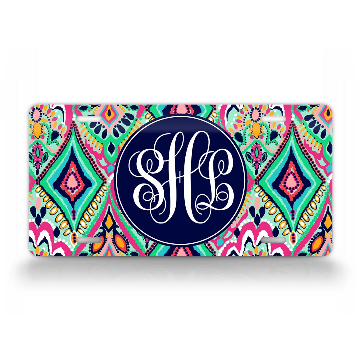 Personalized Jewel Monogram License Plate