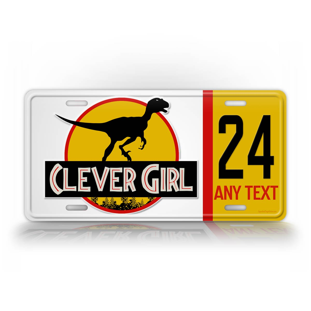Jurassic Park Style Clever Girl Jeep License Plate