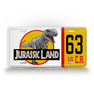 Jurassic Land Custom License Plate Any Text Movie Themed Tag