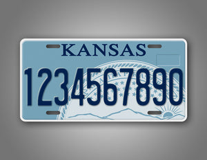 Novelty Kansas Personalized Car Auto Tag