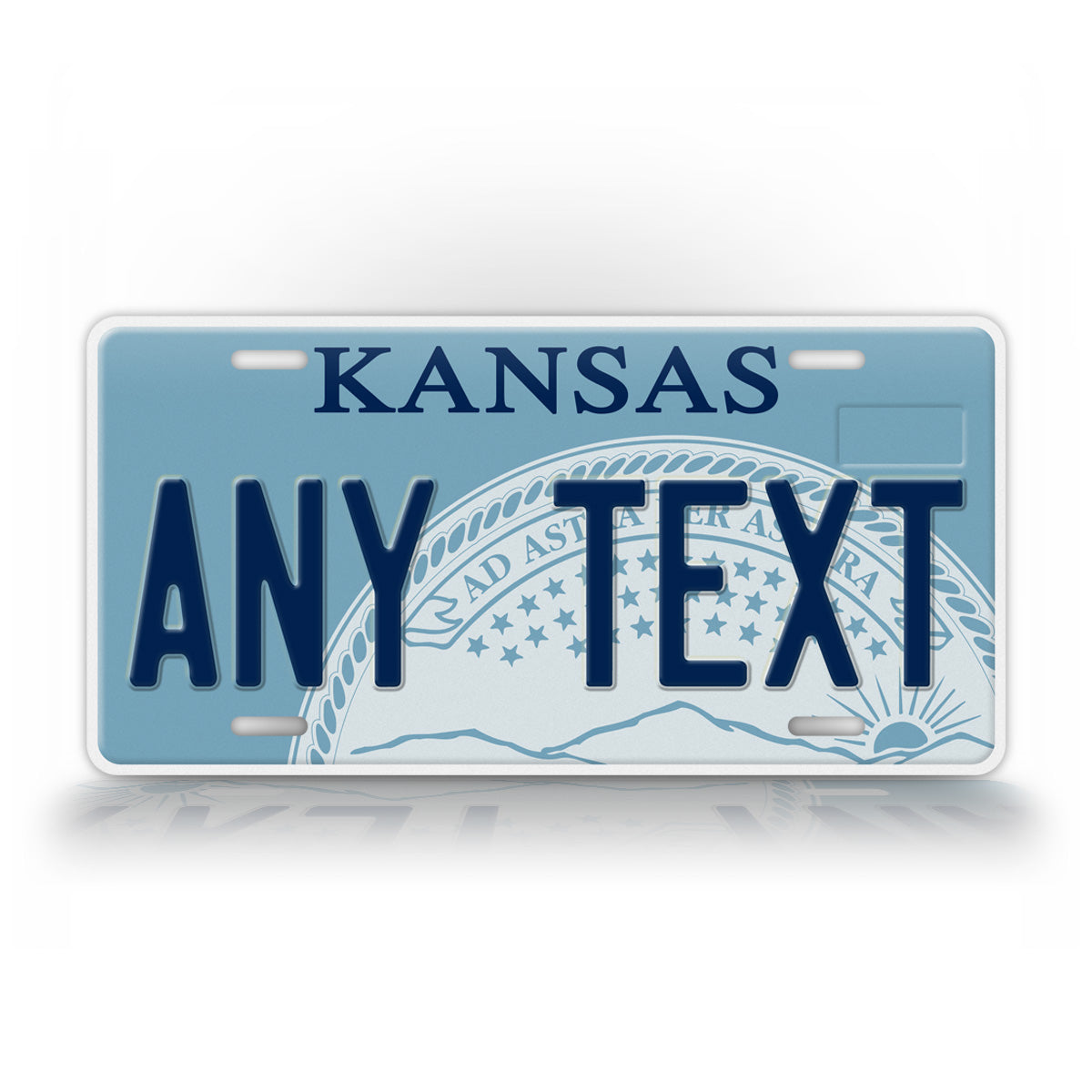 Custom Any Text Kansas State License Plate