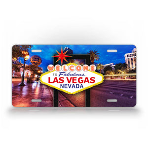 Welcome To fabulous Las Vegas Nevada Photo License Plate