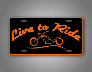 Live To Ride Harley Davidson Rider Motercycle Auto Tag
