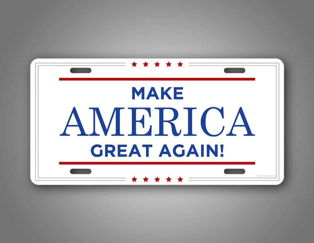 Trump Make America Great Again License Plate