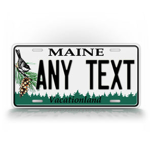 State Of Maine Custom Novelty License Plate
