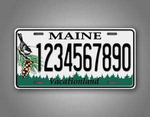 Personalized Maine State Custom License Plate