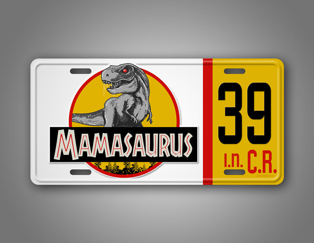 Personalized Mamasaurus Dinosaur License Plate