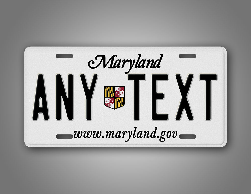 Custom Maryland State License Plate
