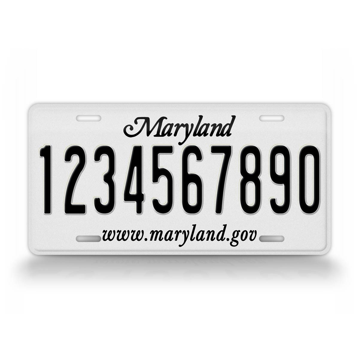 Personalized Text Maryland Novelty Auto Tag