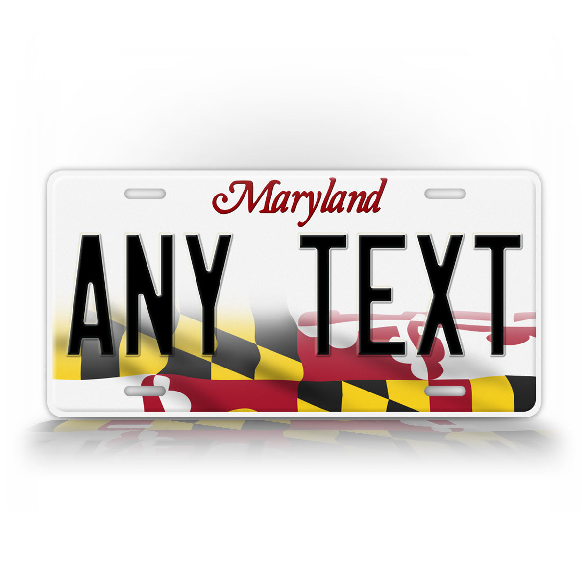 Maryland Flag License Plate Any Text