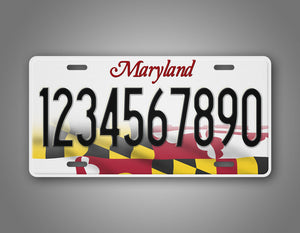 Personalized Maryland State License Plate