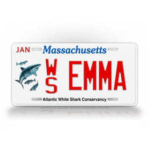 Personalized Massachusetts Atlantic White Shark Conservancy License Plate