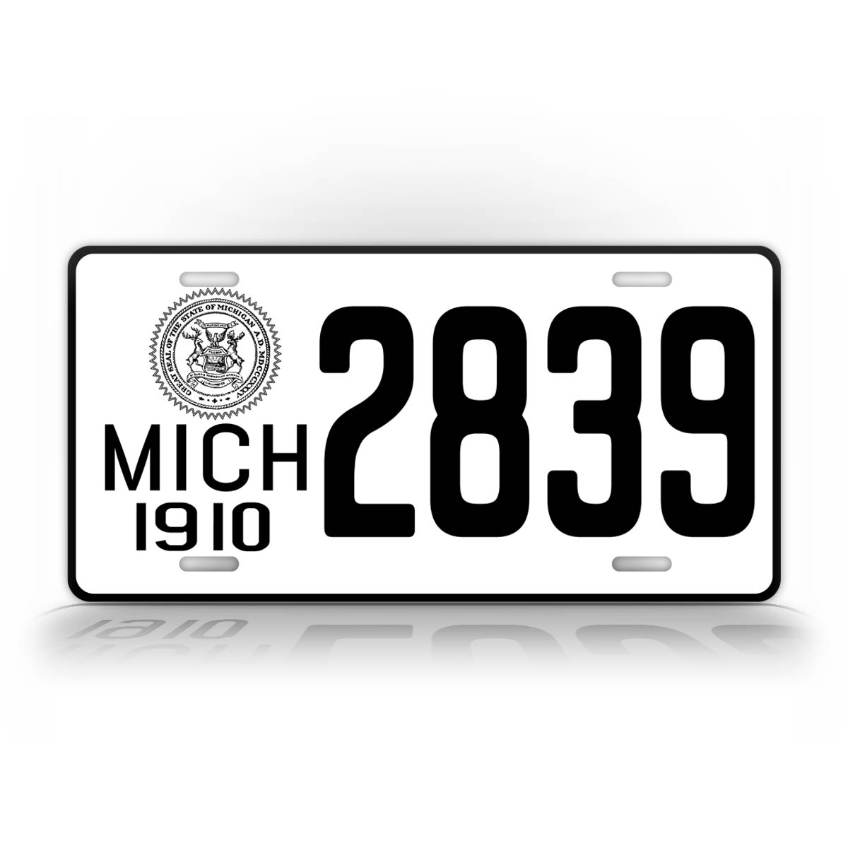 Any Text Personalized 1910 Michigan License Plate
