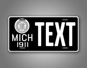 Any Text Michigan Novelty 1911 Custom License Plate