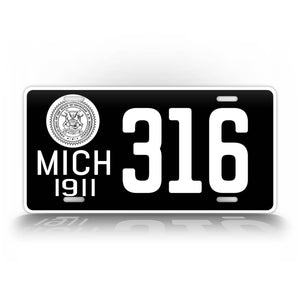 Personalized Text Michigan 1911 License Plate