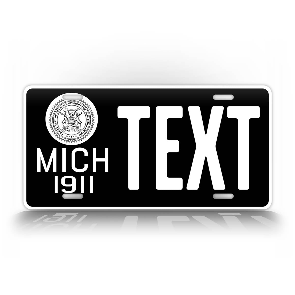 Custom Text Michigan Antique 1911 Novelty License Plate