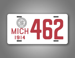 Any Text state Of Michigan Personalized Text Novelty 1914 License Plate