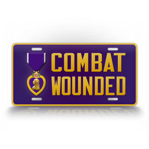 Combat Wounded Veteran Purple Heart License Plate