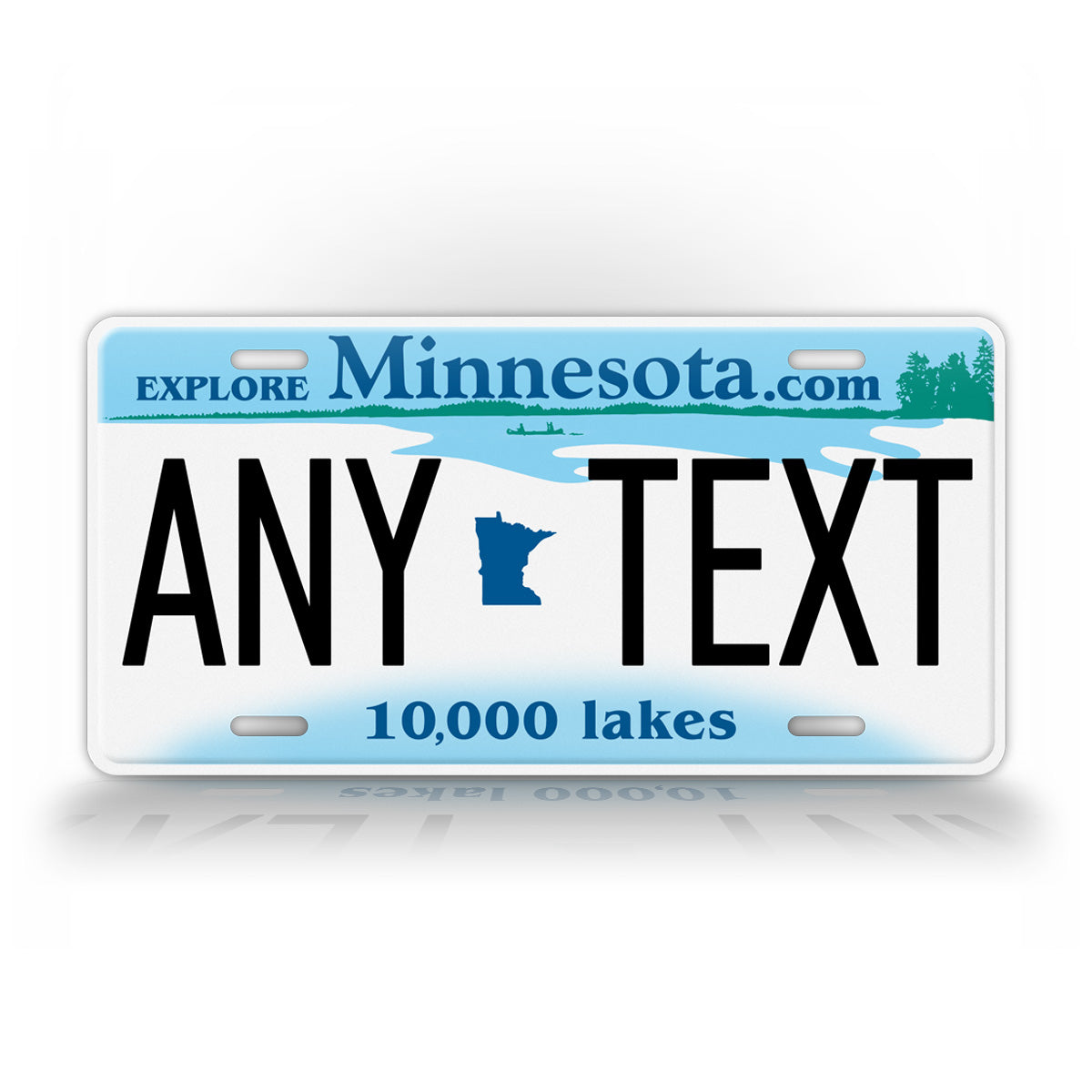 Custom Any Text Minnesota Personalized License Plate