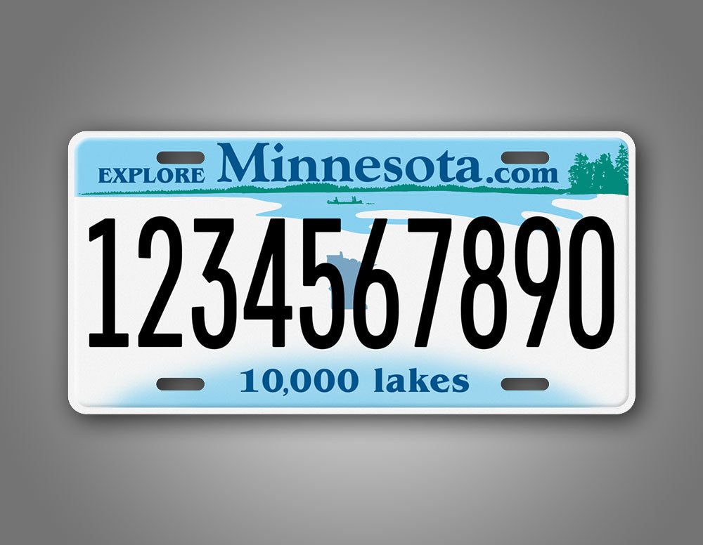 Any Text Custom Minnesota  Sate License Plate