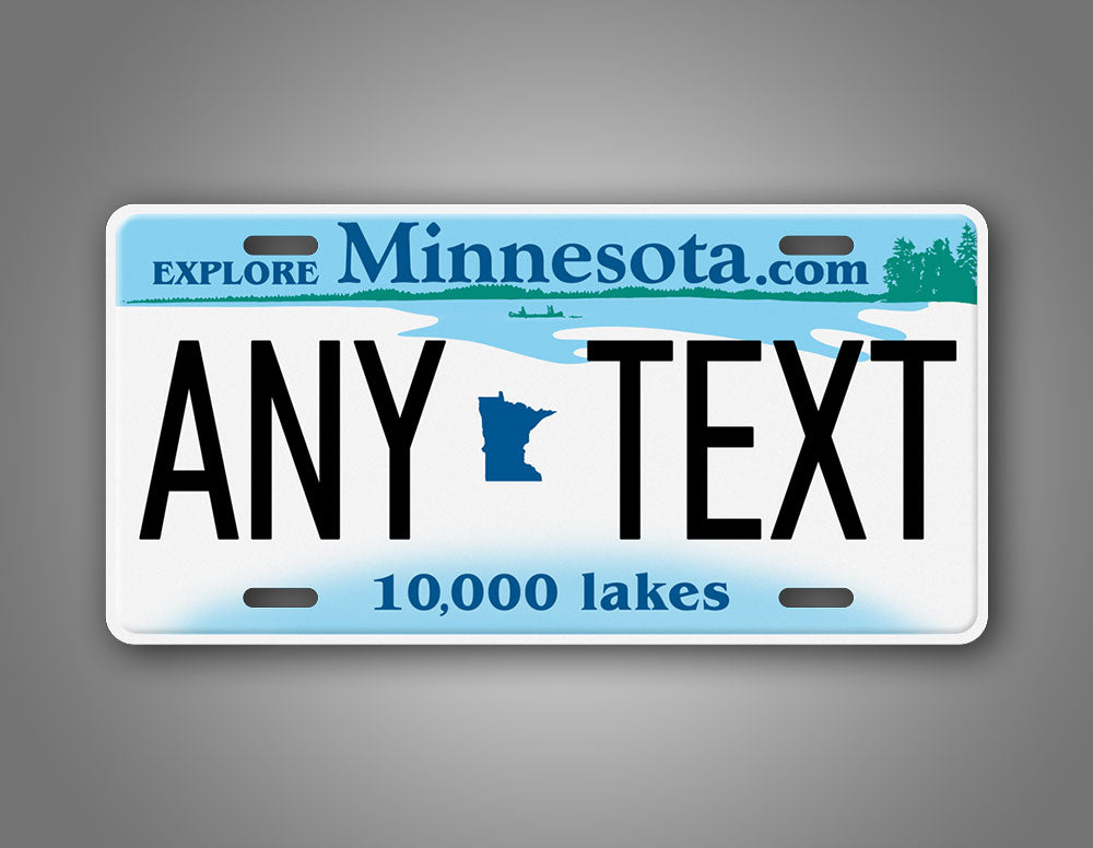 Personalized Novelty Minnesota State Auto Tag