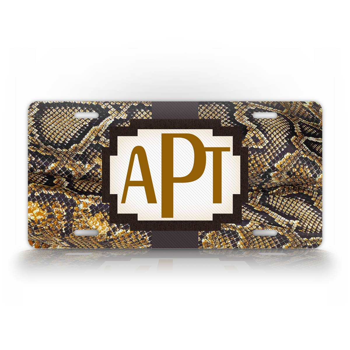 Personalized Brown Boa Constrictor Monogram License Plate