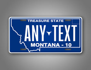Personalized Montana Custom License Plate