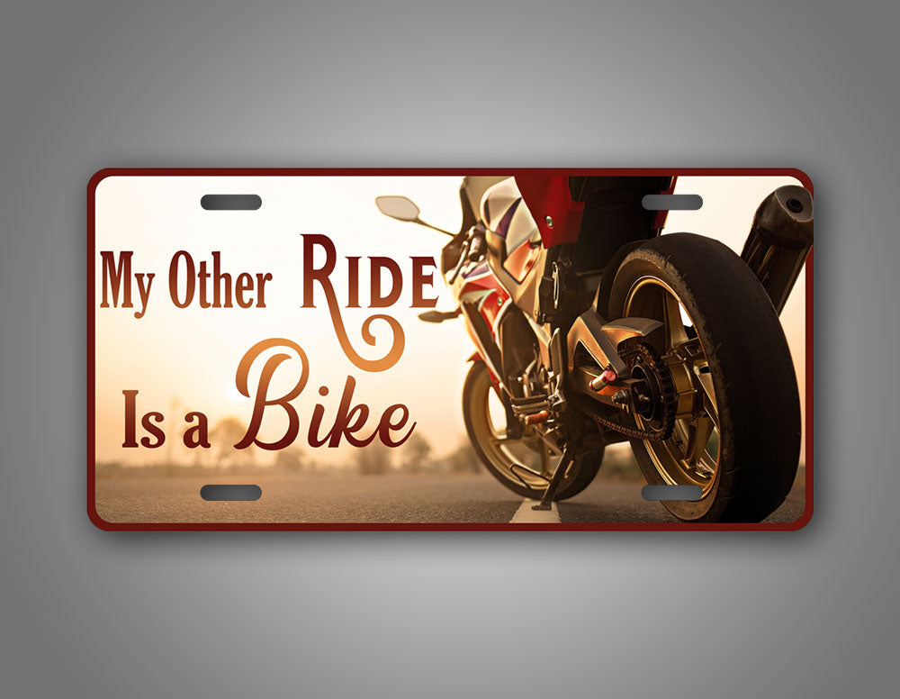 Motorcycle Photo License Plate