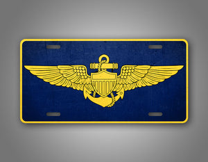 United States Navy Naval Pilot badge License Plate