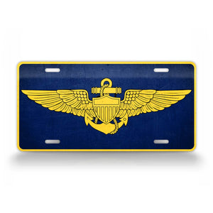 US Navy Naval Wings License Plate