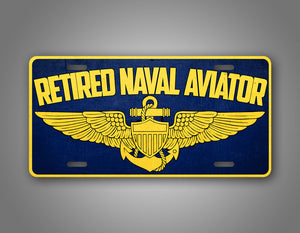 Retired Naval Aviator US Navy Pilot License Plate