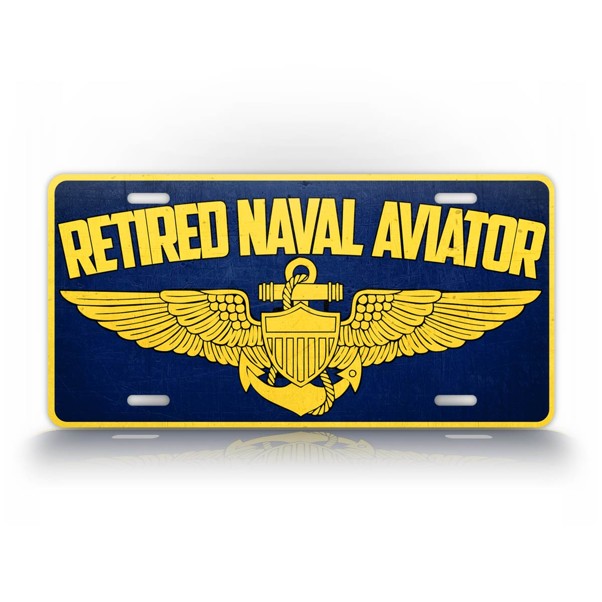 Retired Navy Pilot US Navy Veteran License Plate