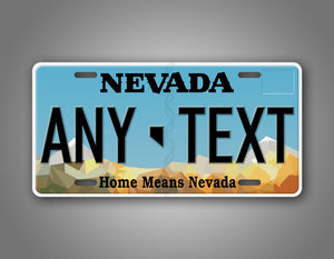 Personalized Any Text Nevada State Auto Tag