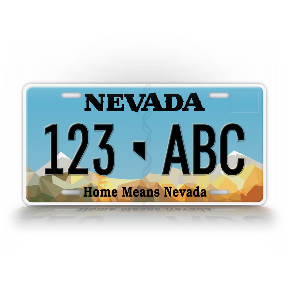 Custom Text Nevada State License Plate