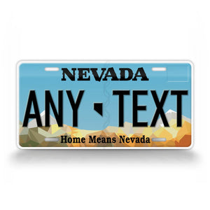 Personalized Nevada Novelty State License Plate