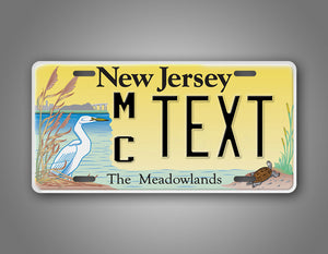 Any Text New Jersey Meadowlands License Plate
