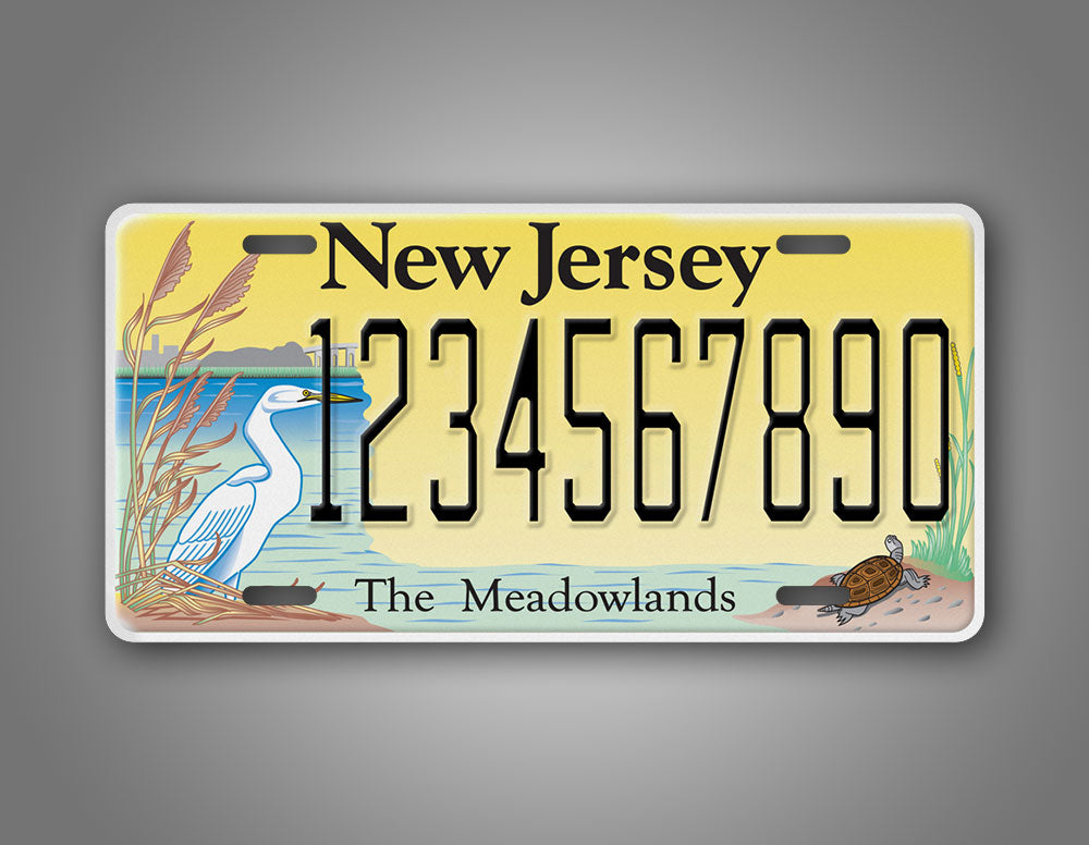 Custom Text New Jersey Novelty License Plate