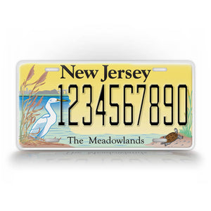 Personalized New Jersey Meadowlands Auto Tag