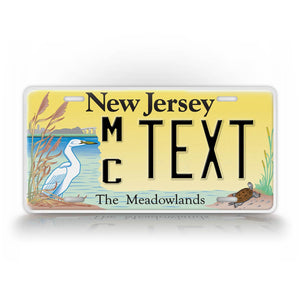 Custom Text Novelty New Jersey Meadowlands License Plate
