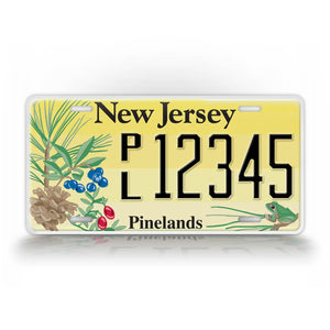 Personalized Novelty New Jersey License Plate